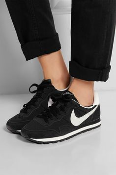 Nike|Air Pegasus 83 suede, leather and mesh sneakers|NET-A-PORTER.COM