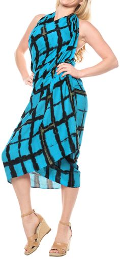 3a3711ccdc LA LEELA - LA LEELA BEACH Rayon Casual WOMEN Bikini Scarf Wrap Long Sarong  Swimsuit Pareo - Walmart.com