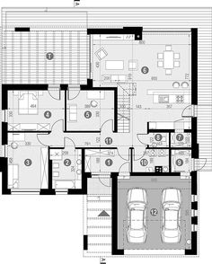 Projekt domu HomeKoncept-29 199,74 m2 - koszt budowy - EXTRADOM House Plans, Floor Plans, Houses, Concept, How To Plan, Home Decor, Cunha, Floor Layout, Blueprints For Homes
