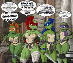 TMNT rule63 by kayzer this is amazing.