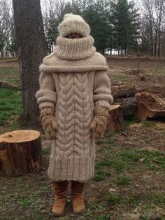 Winter is no match for this knitter.
