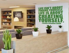 Creating Yourself Office Wall Sticker in Office by Vinyl Impression