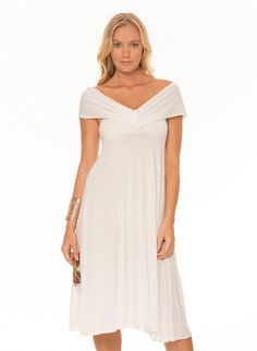 The One Convertible Dress & Skirt - White