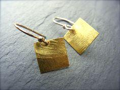 Vergoldete Ohrringe - geometrische Ohrringe - ein Designerstück von ilkajewels bei DaWanda