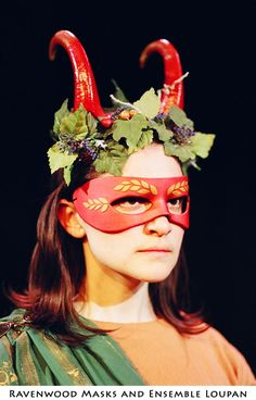 Dionysus - theater costume  by ~Alyssa-Ravenwood  neoprene horns. polymer clay mask.