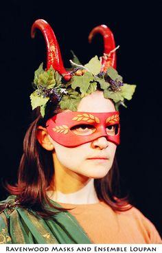Dionysus - theater costume  by ~Alyssa-Ravenwood  neoprene horns. polymer clay mask.