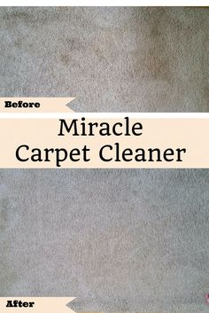 Chech out this Miracle Carpet Cleaner. It costs pennies to make and works great!!