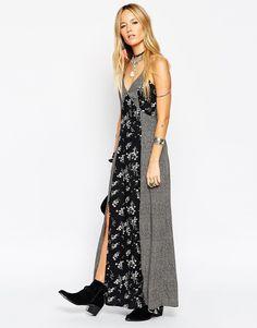 ASOS - Maxi robe à petits motifs variés