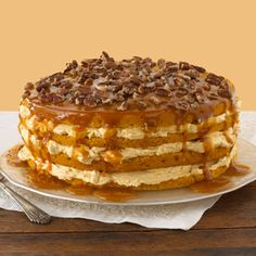 Pumpkin four layer cake | Taste of Home