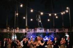 Elegant Florida art museum wedding   photo by Kallima Photography   100 Layer Cake Cantina lighting by MMD Events