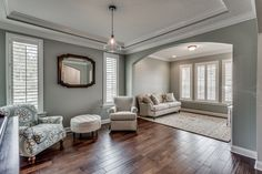 Front sitting room Sherwin Williams Comfort Gray