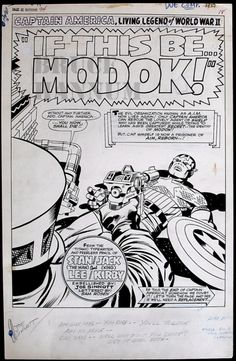 "Jack Kirby. ""IF THIS BE ... MODOK""? Jesus, Stan, sober up."
