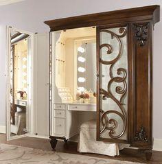 Jessica McClintock dressing armoire