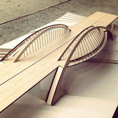by Bac de Roda bridge structures term project DONE! Bridge Model, Bridge Structure, Arch Model, Arch Bridge, Pedestrian Bridge, Bridges Architecture, Amazing Architecture, Architecture Design, Bridge Drawing