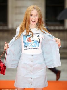 All eyes on me:Ellie Bamber made a trendy appearance at the Royal Academy Summer Exhibition preview party on Wednesday