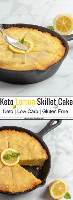 Keto Lemon Skillet Cake- Low Carb & Gluten Free