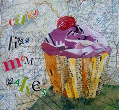 Cupcake collage £10.00 available from folksy.com/shops/inkybird