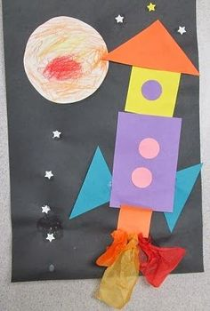 Out of this world! Outer Space Theme               SHAPES FOR MATH: