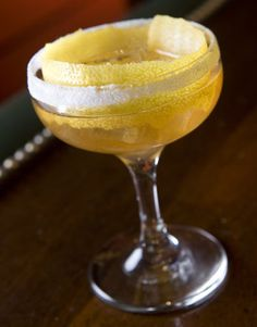 Bourbon Crusta  Created in the 1850s in New Orleans, the drink was brought west by His Royal Highness of American cocktails, Professor Jerry Thomas. It's one of the first cocktails known to integrate lemon or lime juice into the mix and is also the predecessor of the Sidecar.     1 1/2 oz. Elijah Craig 12-year bourbon  1/2 oz. Old Senor Curaçao  1/4 oz. Luxardo Maraschino  Juice of 1 lemon wedge  Dash Angostura bitters  Ice    Shake ingredients together with ice and strain into glass. Wet…