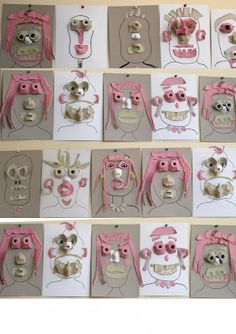portrait avec boite à oeuf (branca rotelli)  portrait using recycled egg cartons