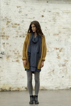 Love everything about this...but the sweater would have to be black for me to wear it. :)
