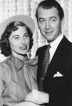 Jimmy Stewart and his wife, Gloria