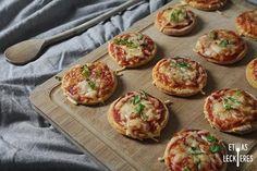 Ohne lange Ruhezeit sind diese Pizzen ruck-zuck gezaubert. Toll als Party-Snack, Fingerfood…
