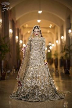 Beautiful Bridal Heavy Work Lahnga in Bronze Golden Color Embellished with Pure Crystals Dabka Nagh Zari Pearls Dull Gold and Silver Load work. Asian Bridal Dresses, Asian Wedding Dress, Pakistani Wedding Outfits, Pakistani Bridal Dresses, Pakistani Wedding Dresses, Bridal Outfits, Indian Dresses, Golden Bridal Lehenga, Wedding Gowns