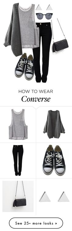 """Untitled #95"" by afrobp on Polyvore featuring Moschino, Converse, Jennifer Meyer Jewelry, Quay and Zara"