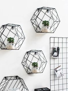 SheIn offers Hexagon Iron Ca. SheIn offers Hexagon Iron Cantilever Wall Shelf & more to fit your fashionable needs. Source by immedittmer - Cantilever Shelf, Simple Apartment Decor, Wall Decor, Room Decor, Wall Art, Printed Cushions, Diy Pallet Projects, Pallet Ideas, Wall Shelves