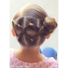 """Cris cross ponies into a side messy bun for little sis. • inspired by @simplystranded • "" Photo taken by @brownhairedbliss on Instagram, pinned via the InstaPin iOS App! http://www.instapinapp.com (08/25/2015)"