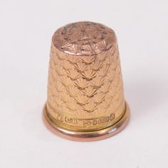 C346 Beautiful Vintage 9K Yellow GOLD Thimble CHESTER BRITAIN 1937 3.7g | eBay