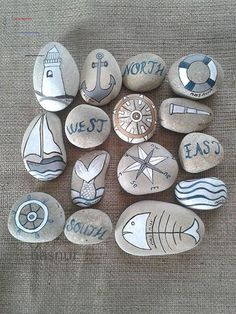 Rock Painting Patterns, Rock Painting Ideas Easy, Rock Painting Designs, Paint Designs, Pebble Painting, Pebble Art, Stone Painting, Painted Rocks Craft, Hand Painted Rocks