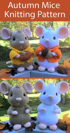 Knitting Toys Easy, Knitting Charts, Free Knitting, Knitting Projects, Baby Knitting, Animal Knitting Patterns, Crochet Patterns, Halloween Knitting Patterns Free, In Natura