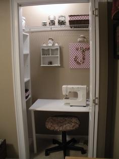 My tiny closet sewing room! Love It!