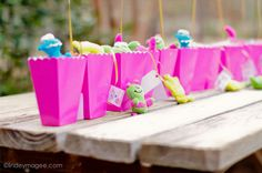 Monster party for a little girl, super cute.
