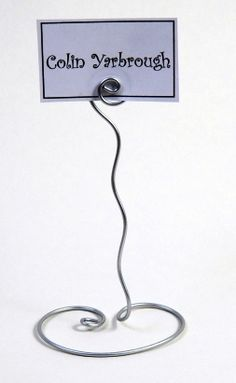 Squiggly Table Number Holder-