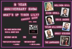 The What's Up, Tiger Lily? 9-Year Anniversary Show Happens 1.24 at UCB Sunset
