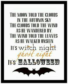 Samain: It's Halloween {Free Printable} @ Blissful Roots, for Halloween Poems, Samhain Halloween, Halloween Images, Halloween Signs, Halloween Projects, Halloween Cards, Spooky Halloween, Holidays Halloween, Vintage Halloween