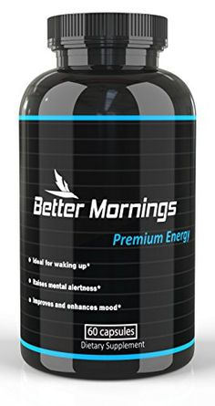 Energy Pills for Focus and Enhanced Mood | Coffee and Energy Drink Alternative | Nootropic Brain Supplement | Focus Pills with Caffeine, Rhodiola and Phenylethylamine | Strong Vitamins for Energy
