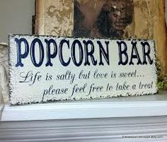 Items similar to POPCORN BAR, Wedding Signs, Life is salty but love is sweet, Rustic Wedding Signs, 7 x 18 on Etsy Trendy Wedding, Fall Wedding, Our Wedding, Dream Wedding, Wedding Ideas, Wedding Stuff, Wedding Decor, Popcorn Wedding Favors, Wedding Favors For Guests