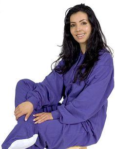 Big Feet Pajamas Adult Purple Jersey Knit One Piece Footy