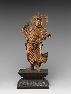 Warrior Figure  Period:     Ming dynasty (1368–1644). Culture:     China. Medium:     Wood, lacquer, paint.