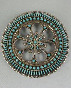 Beautiful Zuni pin.