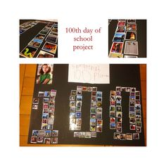 100 days of school project, the large picture is a 4x6