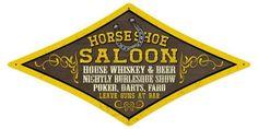 Vintage and Retro Wall Decor - JackandFriends.com - Retro Horse Shoe Saloon Diamond Tin Sign, $39.97 (http://www.jackandfriends.com/vintage-horse-shoe-saloon-diamond-metal-sign/)