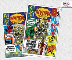 Super Hero Invitation by MetroEvents on Etsy, $6.98