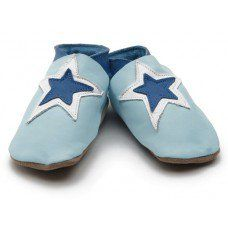 Stardom Baby Blue Soft Leather Baby Shoes Made and supplied by Star Child Shoes in #Leicestershire - £18.00