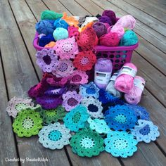 Crochet Motif Crochet Japanese Flowers Free Pattern - You will love these Crochet Flowers Free Patterns that we have put together for you. Check out all the incredible ideas now and Pin your favourites. Crochet Motifs, Crochet Flower Patterns, Crochet Squares, Crochet Designs, Crochet Flowers, Crochet Stitches, Beau Crochet, Diy Crochet, Crochet Heart Blanket