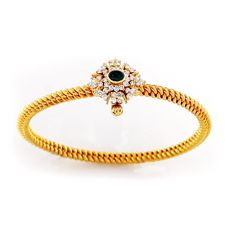 South Indian style twister Bangle #southindiajewellery #bridaljewellery